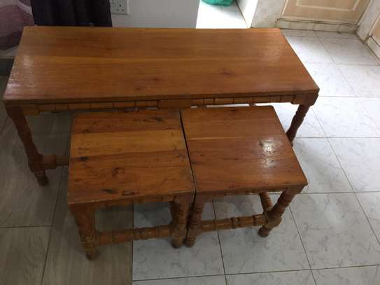 Table with 2 side tables - QUICK SALE image 2