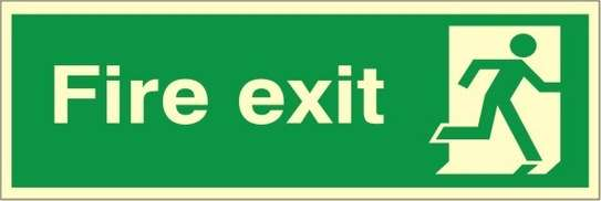 Fire Exit Sign Double Sided