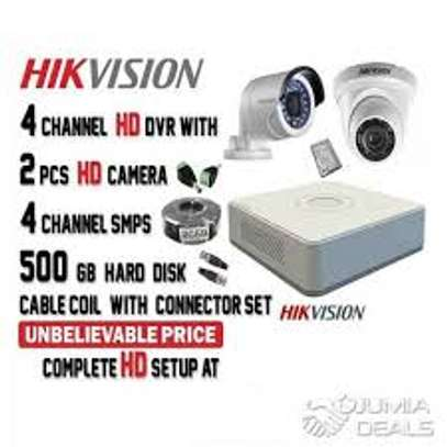 2 CCTV CAMERA COMPLETE PACKAGE image 1