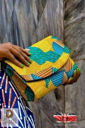 Ankara clutch purses