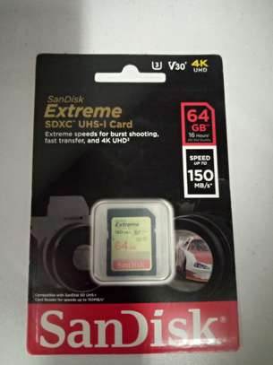 SanDisk Extreme UHS-I, SD Card, up to 150MB/s Read Speed, 64GB image 2