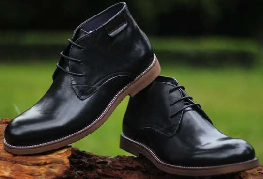 Black Male Slip On Boots image 5