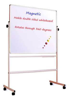 Portable Double Sided Magnetic Whiteboards in Stock. 4x2fts
