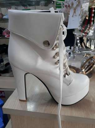 White Ankle Boots image 1