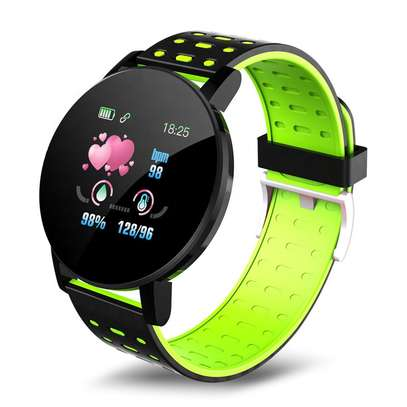 Fitness Tracker  with Heart Rate Blood Pressure   Step Calorie Counter Pedometer Waterproof  -Green image 8