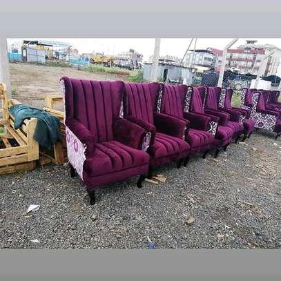 Purple sofas/one seater sofa/modern livingroom sofas/king chairs image 1