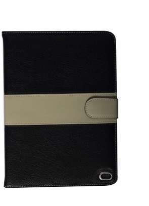 Leather Apple Logo Book Cover Case With In-Pouch For Apple iPad Air 2 9.7 inches image 2