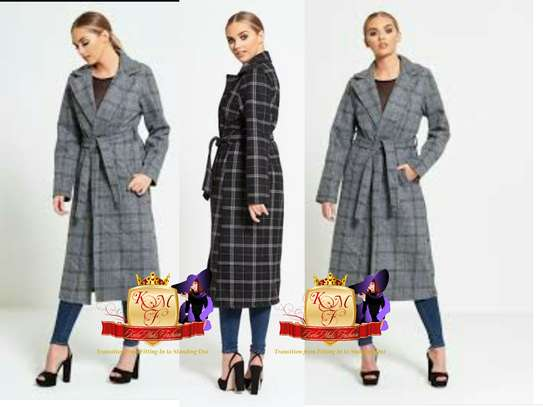 Ladies Longline Coat Made in UK.