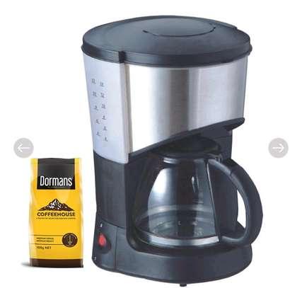 RAMTONS COFFEE MAKER BLACK + FREE DORMANS COFFEE 100G- RM/193 image 1