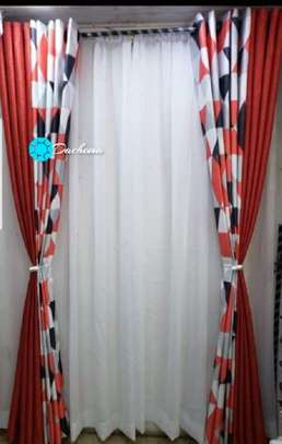 red curtains image 1