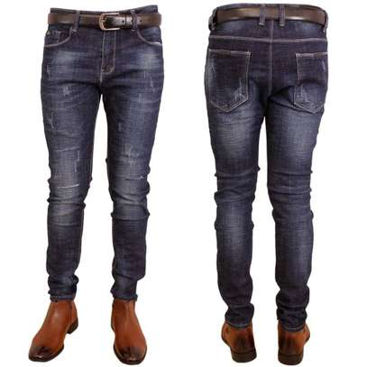 blue fashionable fashion rugged fitting jeans size 30 image 1