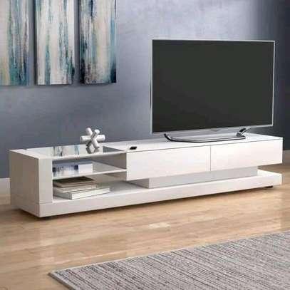 Six feet white TV stand image 1
