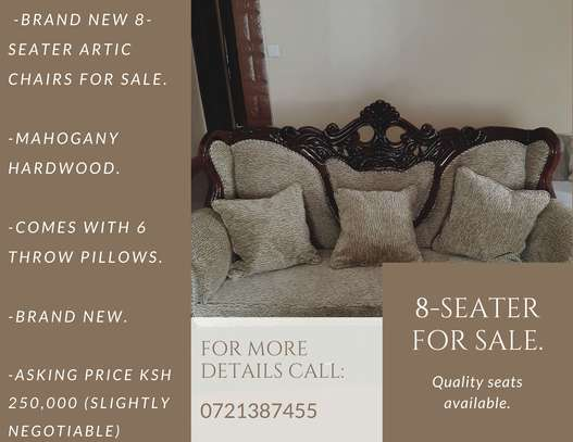 8-Seater Quality Mahogany Artic-Sofas For Sale. image 1