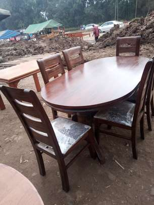 6 Seater Mahogany Walnut stained Dining Table