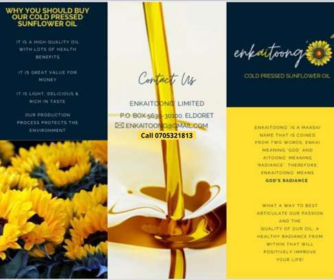 Pure Organic Cold Press Sunflower Oil