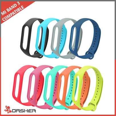 Replacement Silicone Sports Soft Wrist Strap Bracelet Wristband for XIAOMI Mi Band 3/4 image 2