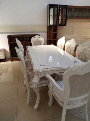 Decorated Glass 8 Seater Dining Table image 3