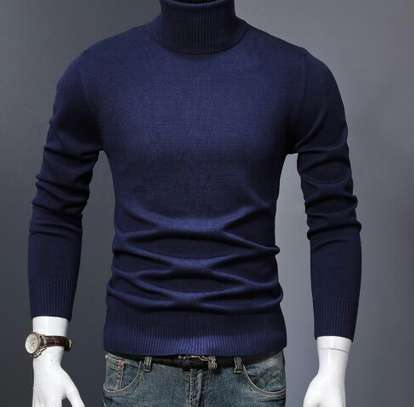 Navyblue turtle neck