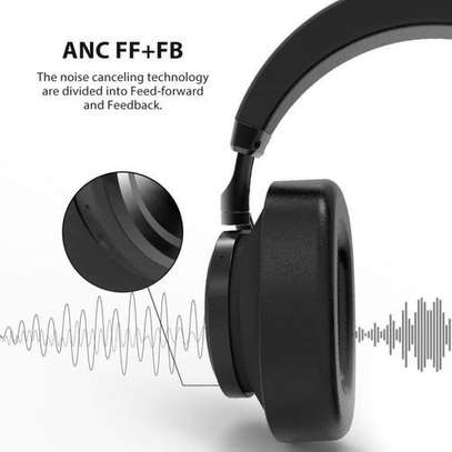Bluedio T6S (Turbine) Active Noise Canceling Bluetooth Stereo Headphone - Black image 3