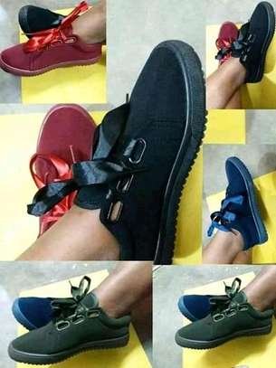 Ladies Rubber shoes with Laces image 1