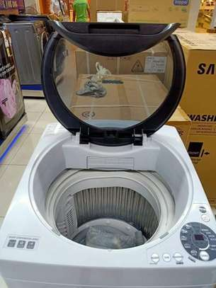 Redmi washing machine 8kg fully automatic wash and dry color white image 1