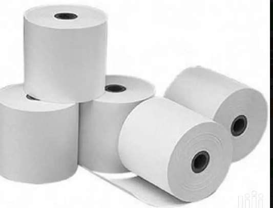 Pos Thermal Receipt Printer Thermal Paper Rolls 79 By 80 image 1