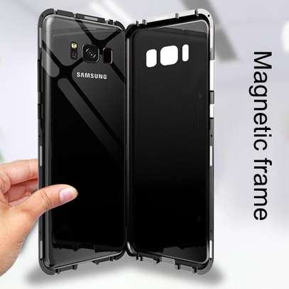 Magnetic Luxury Cases For Samsung S8 S8 Plus With Tempered Back Glass image 4