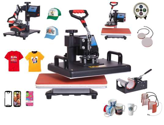 Digital Transfer Sublimation Heat Press Machine T-Shirt Mug Hat cap. 8 in 1 heat press machine. image 1