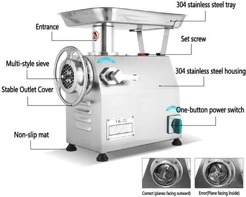 Mincer Sausage Maker Commercial Stainless Steel image 1