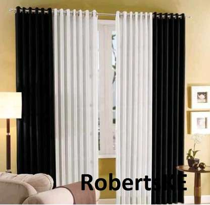white and black curtain image 1