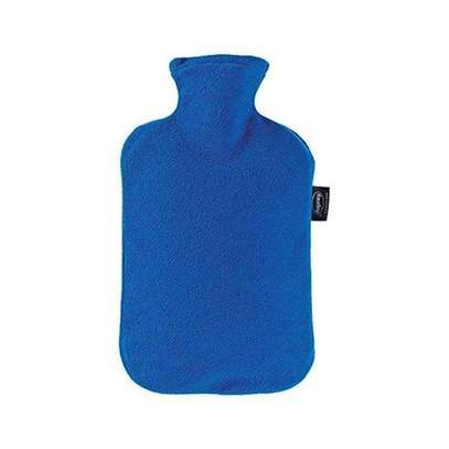 Hot Water Bottle With Cover-Blue image 1