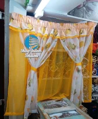 Yellow kitchen curtains image 1