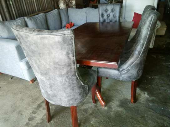 Tufted dining table set image 2