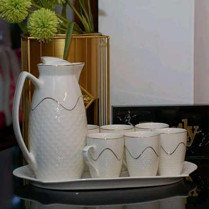 Fancy classy Ceramic Tea Pot, tray and cup set image 3