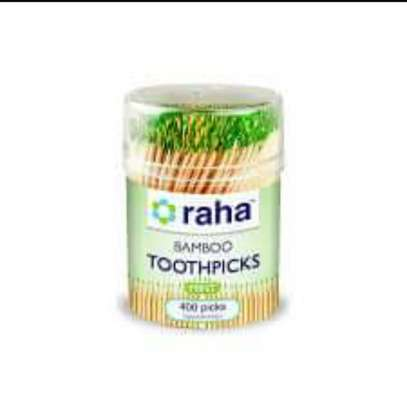 Raha Bamboo Minted Toothpicks - Pack of 400 image 1