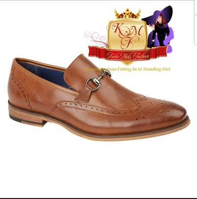 Men's Derby Slip 0n Shoe With Brogue Detail.