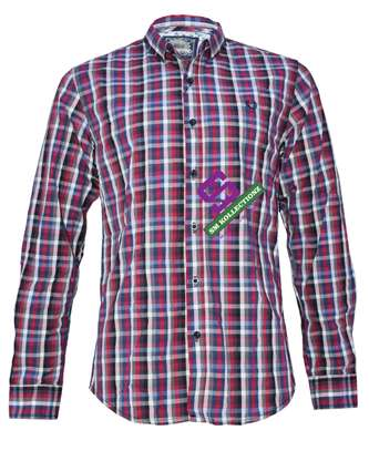 Red Multi Slim Fit Long Sleeved Shirts