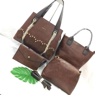 Leather Handbag Set image 4