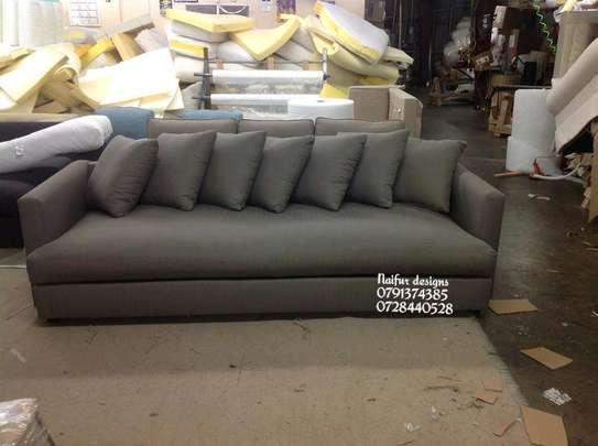 Grey sofas/modern three seater sofas image 1