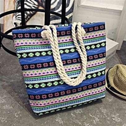 large capacity rope handbag image 9