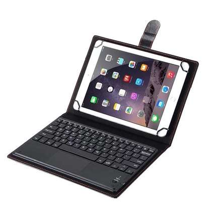 Leather Flip Stand Case With Micro USB Keyboard For Tecno Droidpad 10D image 4