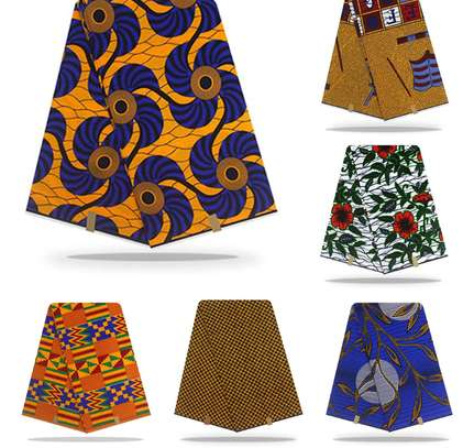 6 Yards Kitenge Cotton Wax Print African Fabric. Massive Discounts!