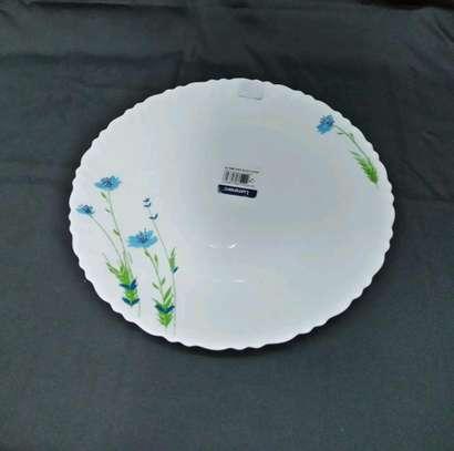 Luminar plates/6pc luminar plate/Dinner plate/Flowered plate image 3