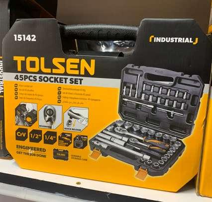 "Tolsen 45Pcs Socket set 1/4"" and 1/2"" image 3"