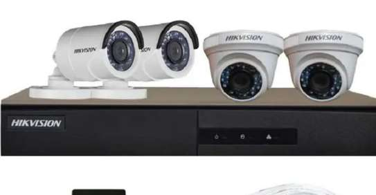 Hikvision Full HD (2MP) 4 CCTV Camera 4ch.Full HD DVR Kit image 1