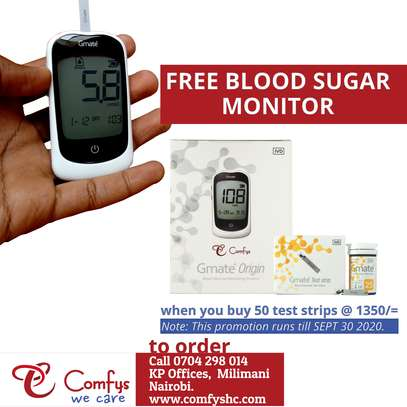 Comfys Gmate Test Strips with Free Glucometer Kit