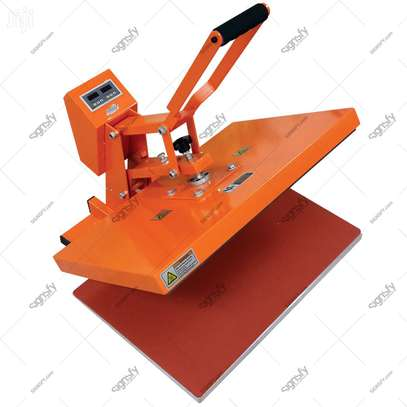 Orange Flatbed Heat Press Machine image 1