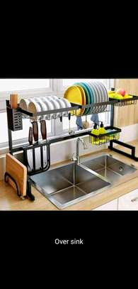 Over the sink dish rack/dish drainer
