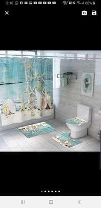 Bathroom Curtain and 2 Mats Set - Curtain - 6x6ft image 4