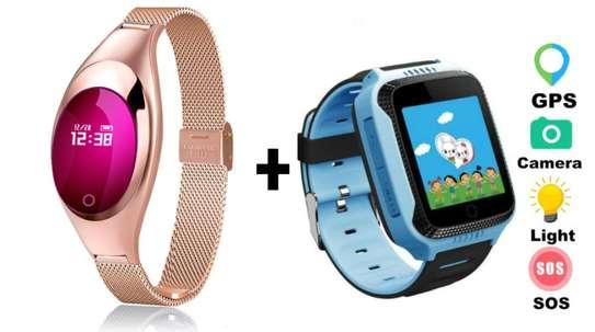 Smart watch bracelet plus FREE kids GPS smart watch combo